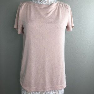 Loft Top Medium Pink Shirt Burnout Modal soft tee